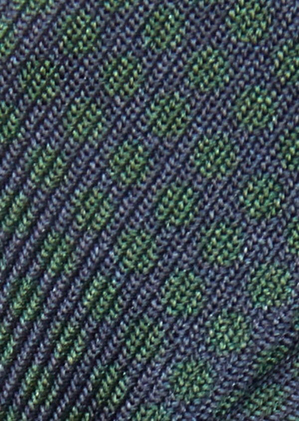 Noeud-papillon bleu marine à pois vert - Father and Sons 38254