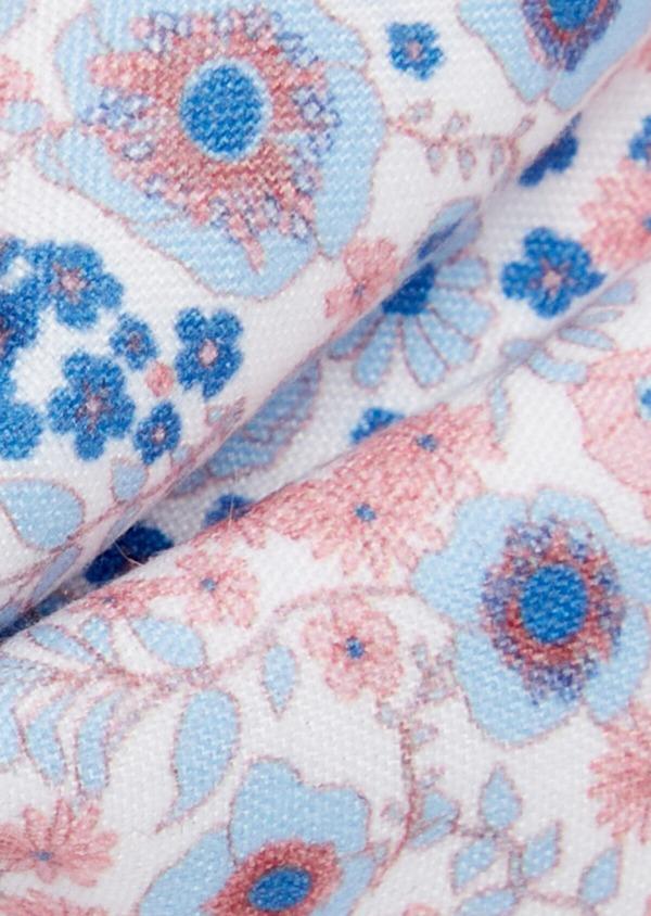Noeud-papillon à motif fleuri bleu pâle et rose - Father and Sons 38232