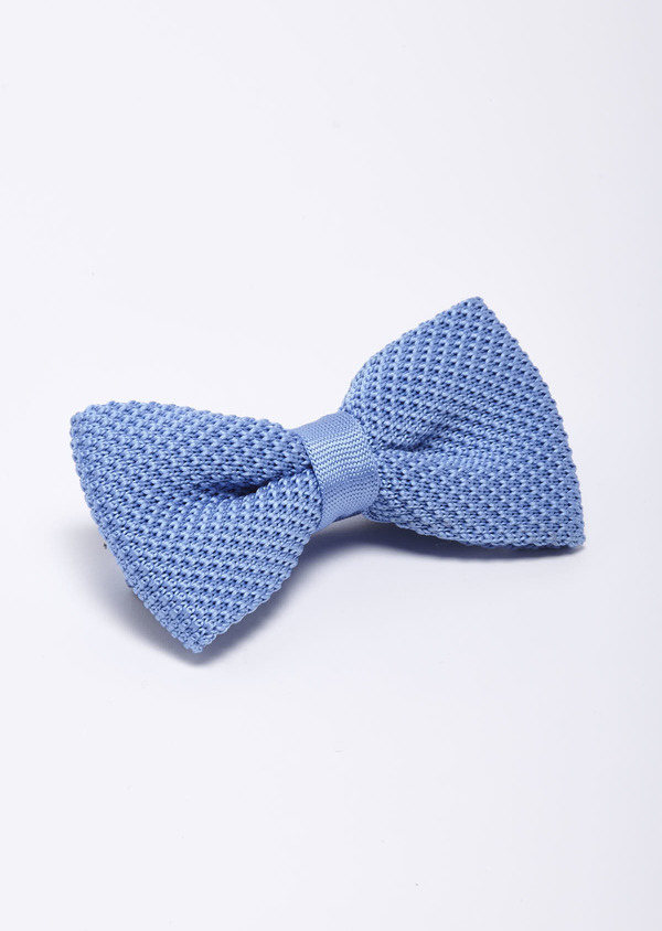 Noeud-papillon tricot uni bleu clair - Father and Sons 18175