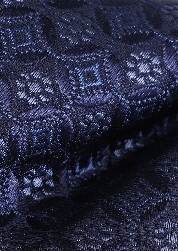 Noeud-papillon en soie bleue à motif fantaisie - Father and Sons 33249