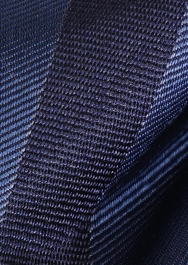 Noeud-papillon en soie bleu marine à rayures - Father and Sons 33241