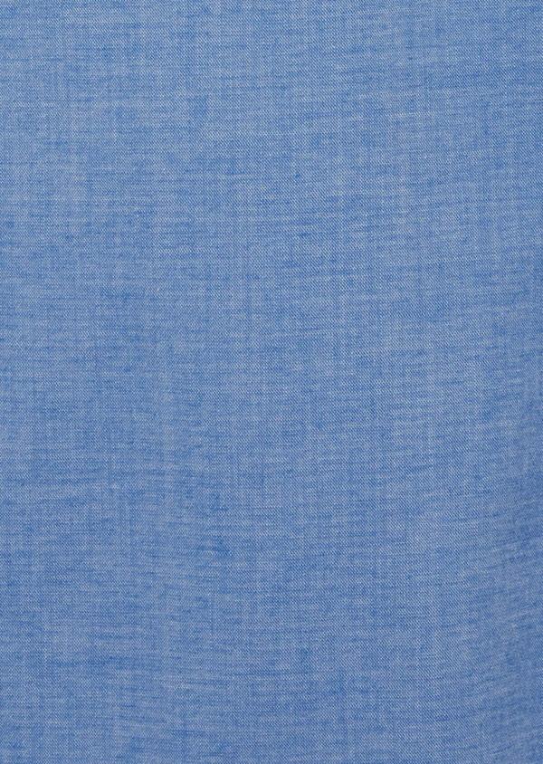 Pantalon casual skinny en coton strech uni bleu - Father and Sons 40615