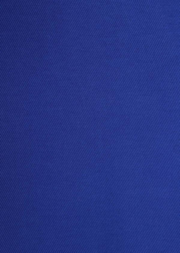 Pantalon casual skinny en coton stretch uni bleu - Father and Sons 37315