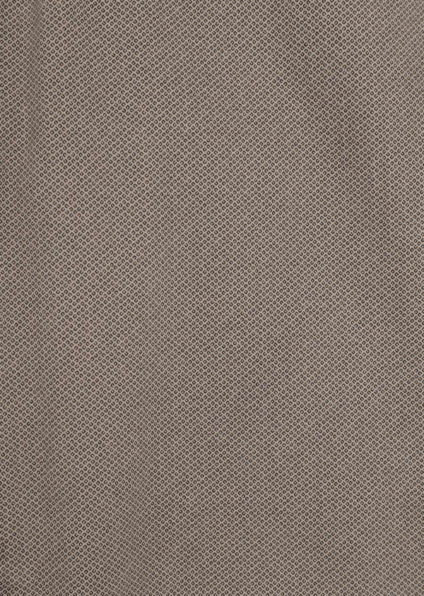 Pantalon casual skinny en coton stretch à motif fantaisie beige - Father and Sons 36120
