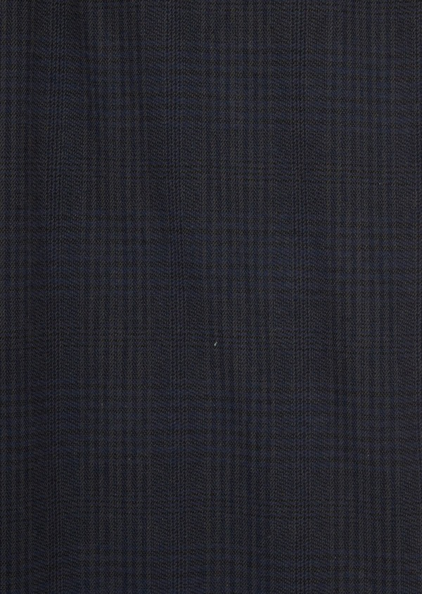 Chino slack skinny en coton stretch bleu nuit Prince de Galles - Father and Sons 36781