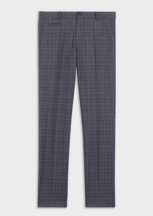 Pantalon coordonnable Skinny bleu indigo Prince de Galles - Father and Sons 35398