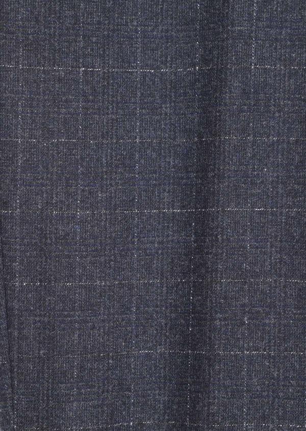 Pantalon coordonnable Slim en laine mélangée à carreaux gris - Father and Sons 36516