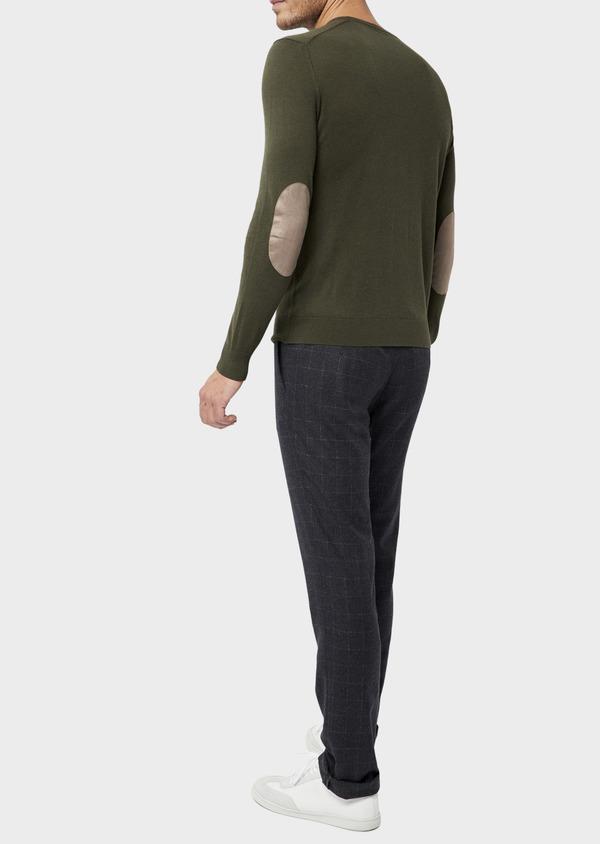 Pantalon coordonnable Slim en laine mélangée à carreaux gris - Father and Sons 36518