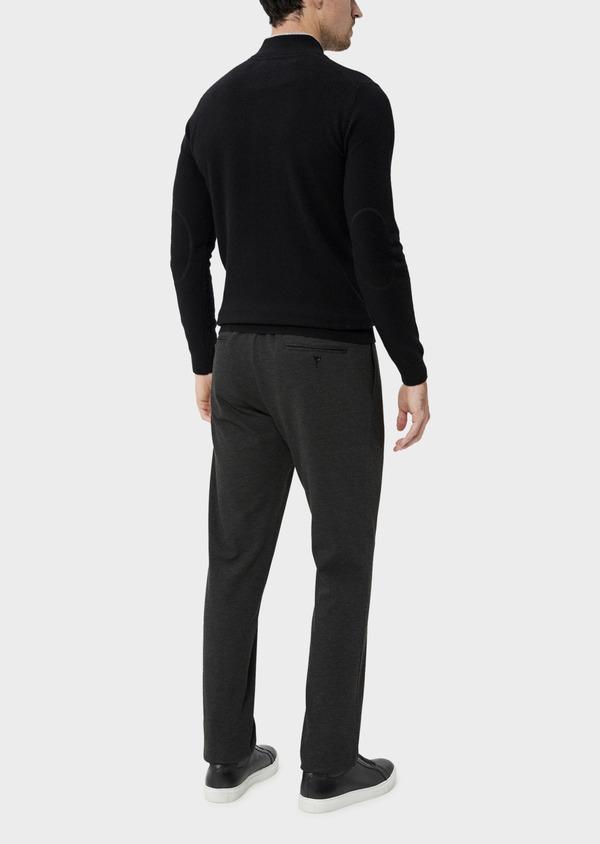 Pantalon coordonnable Slim en jersey uni gris - Father and Sons 35693