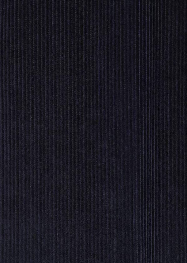 Pantalon coordonnable Slim en velours côtelé uni bleu indigo - Father and Sons 35387