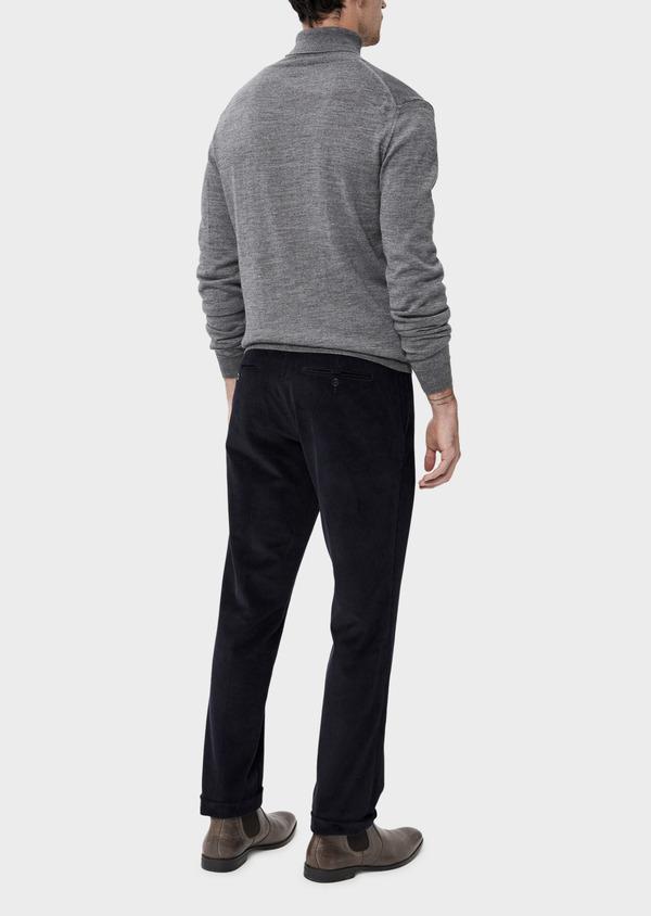 Pantalon coordonnable Slim en velours côtelé uni bleu indigo - Father and Sons 35389