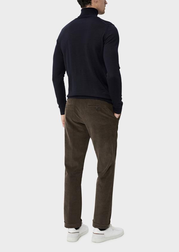 Pantalon coordonnable Slim en velours côtelé uni marron - Father and Sons 35407