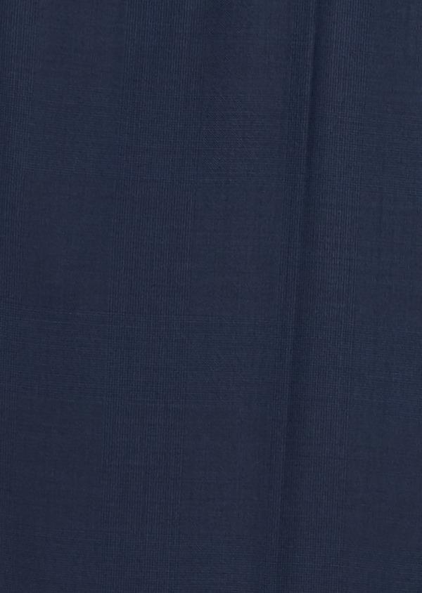 Pantalon de costume Regular en laine Vitale Barberis Canonico bleu marine Prince de Galles - Father and Sons 20028