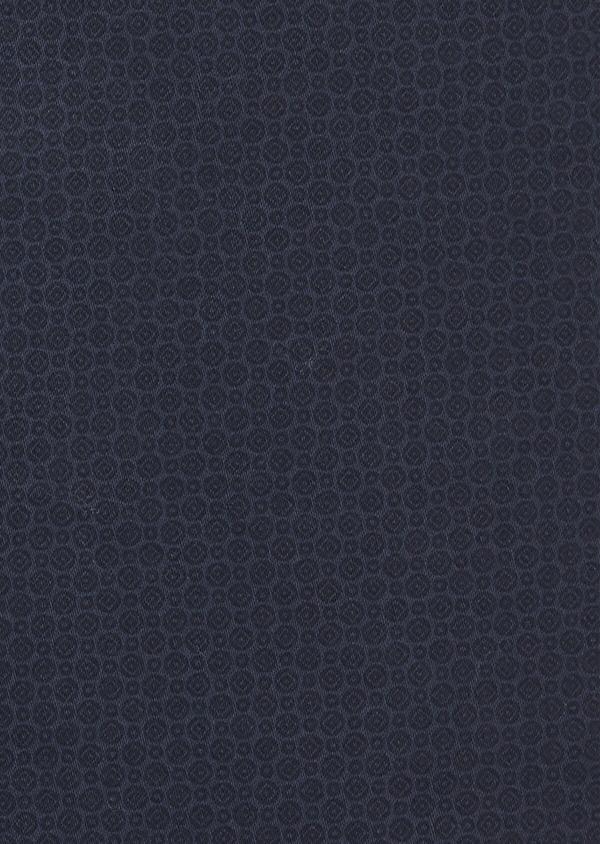 Chino slack skinny en coton stretch bleu indigo à motif fantaisie - Father and Sons 41818