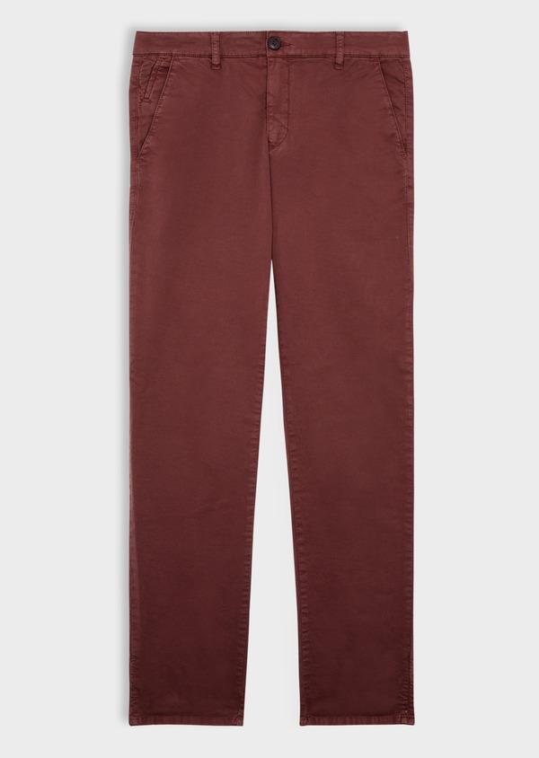 Pantalon casual skinny à motif fantaisie bordeaux - Father and Sons 36880