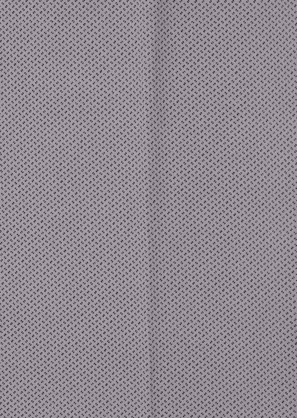 Chino slack skinny en coton stretch gris chiné à motif fantaisie - Father and Sons 31164