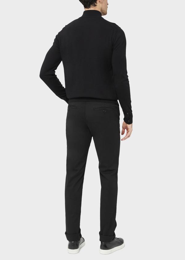 Pantalon casual skinny à motif fantaisie noir - Father and Sons 36887