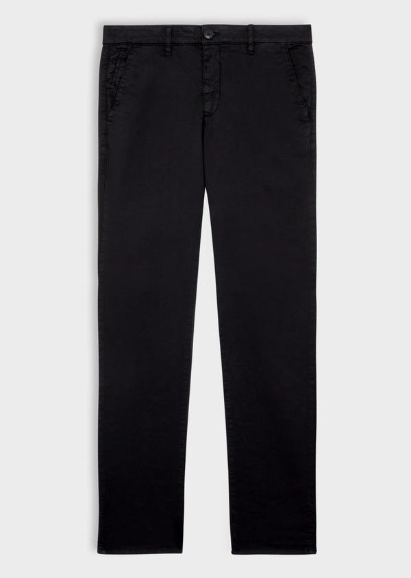 Pantalon casual skinny à motif fantaisie noir - Father and Sons 36884