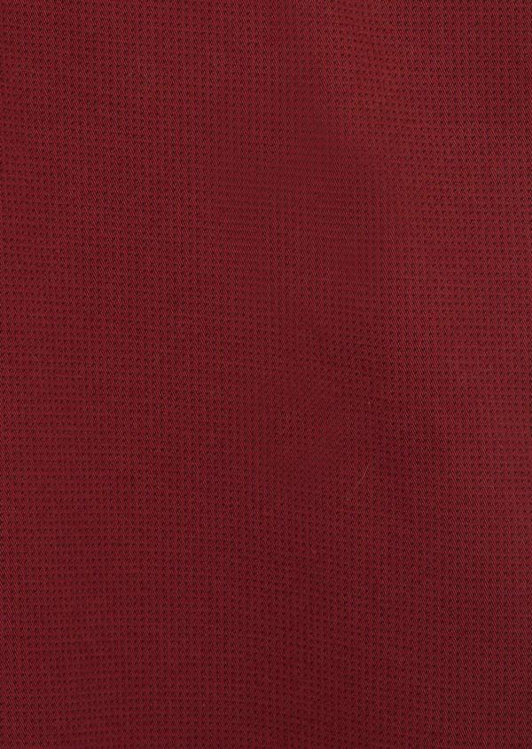 Chino slack skinny en coton stretch à micro motifs géométriques bordeaux - Father and Sons 38729