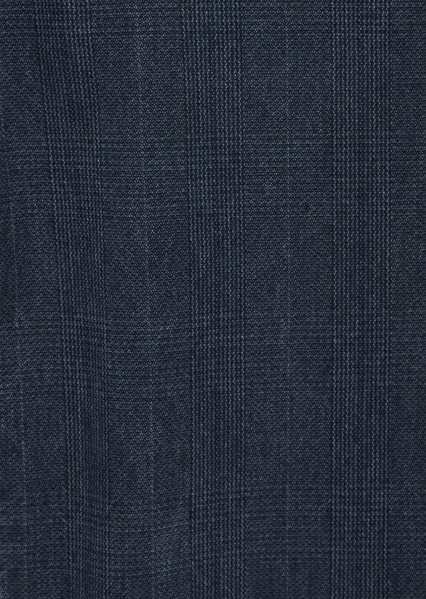 Chino slack skinny en coton stretch bleu Prince de Galles - Father and Sons 40050