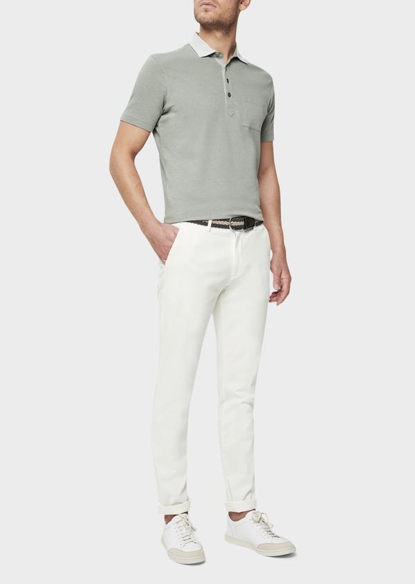 Chino slack skinny en coton stretch uni blanc - Father and Sons 40190