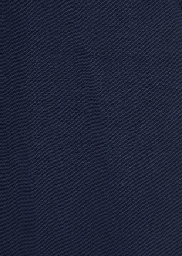 Chino skinny 7/8ème en coton stretch uni bleu indigo - Father and Sons 38689