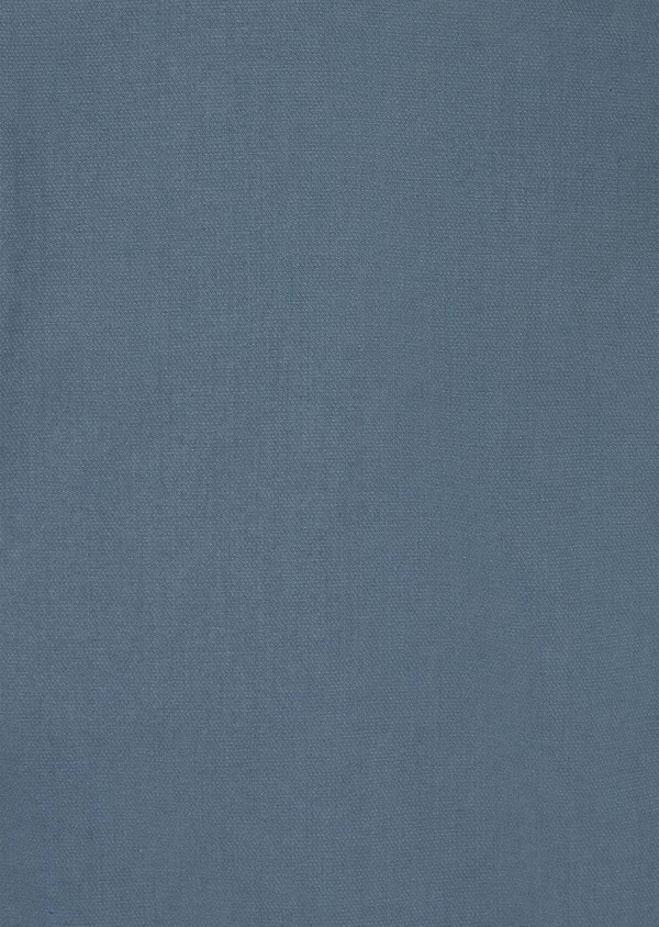 Pantalon casual skinny en coton stretch uni bleu chambray - Father and Sons 40046