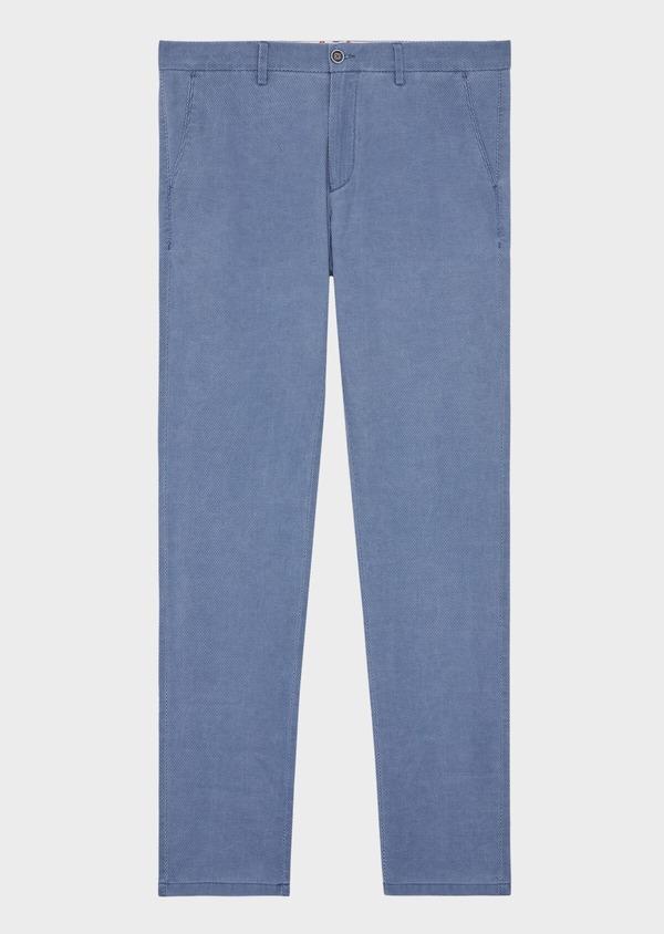 Chino slack skinny en coton stretch uni bleu - Father and Sons 38720