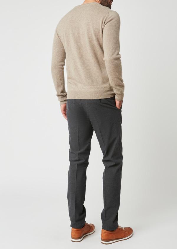 Pantalon coordonnable Slim en coton façonné uni gris - Father and Sons 27998