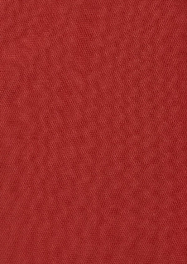 Chino slack skinny en coton stretch uni rouge foncé - Father and Sons 40185