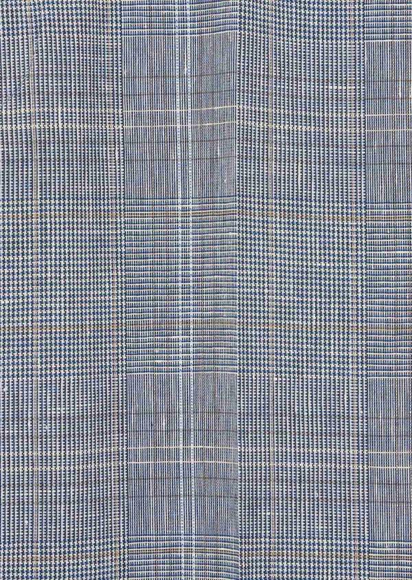 Pantalon coordonnable Slim en lin et coton bleu indigo Prince de Galles - Father and Sons 38685