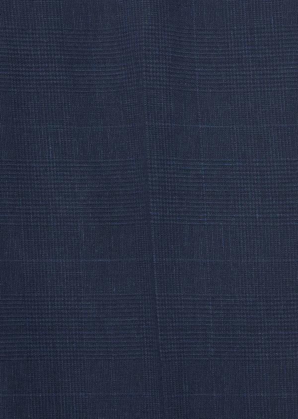 Pantalon coordonnable Slim en lin et coton bleu marine Prince de Galles - Father and Sons 39861