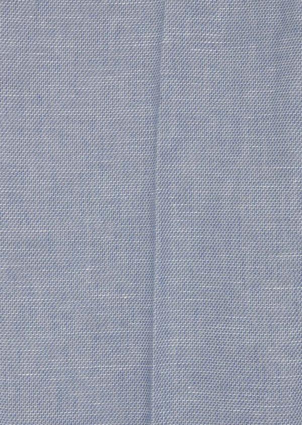 Pantalon coordonnable Slim en coton et lin uni bleu chambray - Father and Sons 38693