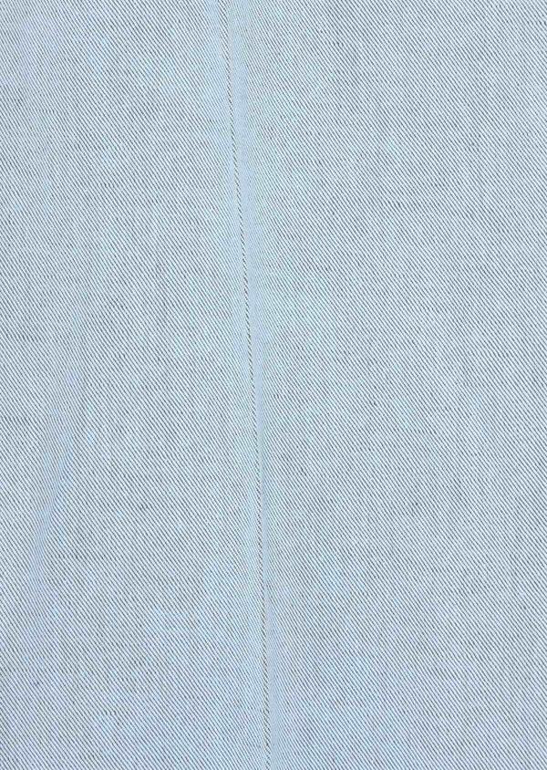 Pantalon coordonnable Slim en coton et lin uni bleu chambray - Father and Sons 38697