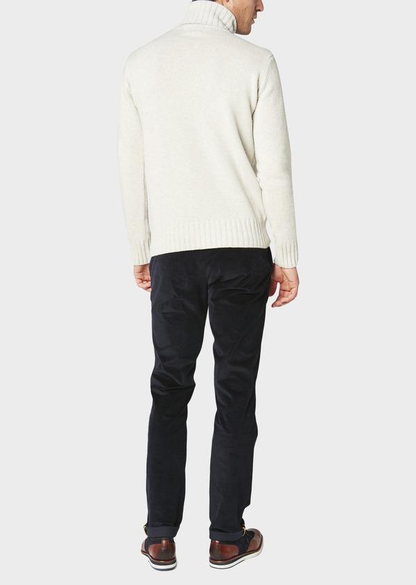 Pantalon coordonnable Slim en velours uni bleu marine - Father and Sons 31108