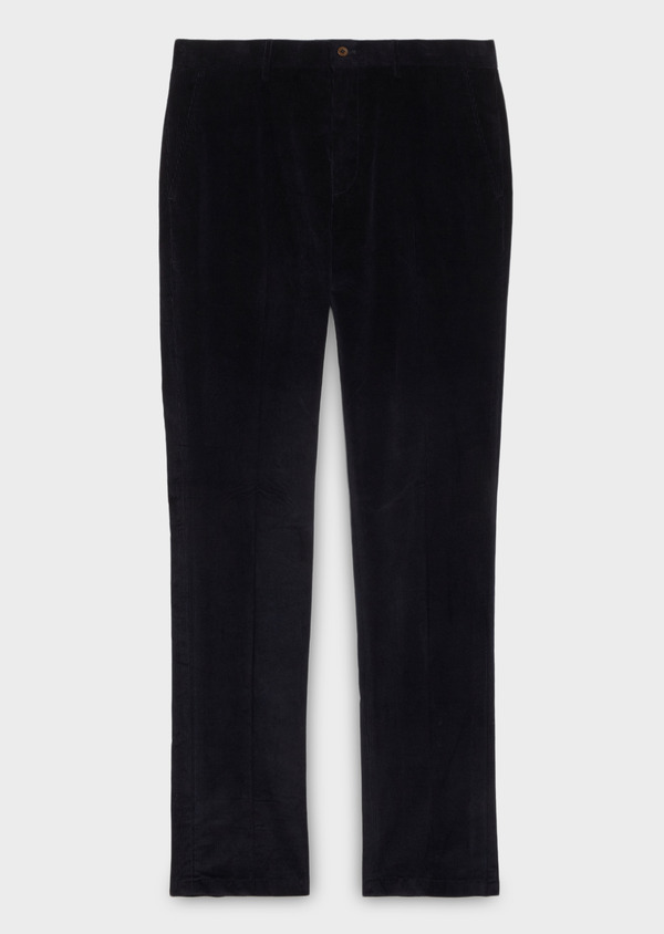 Pantalon coordonnable Slim en velours uni bleu marine - Father and Sons 31105