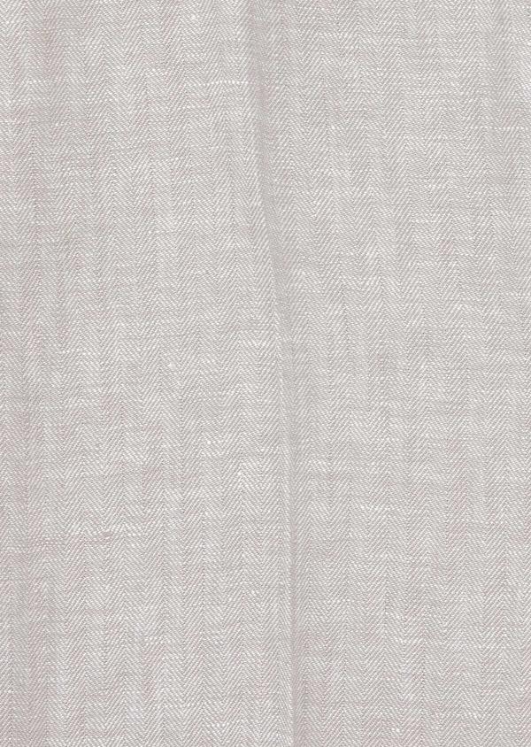 Pantalon coordonnable Slim en lin uni gris - Father and Sons 38705