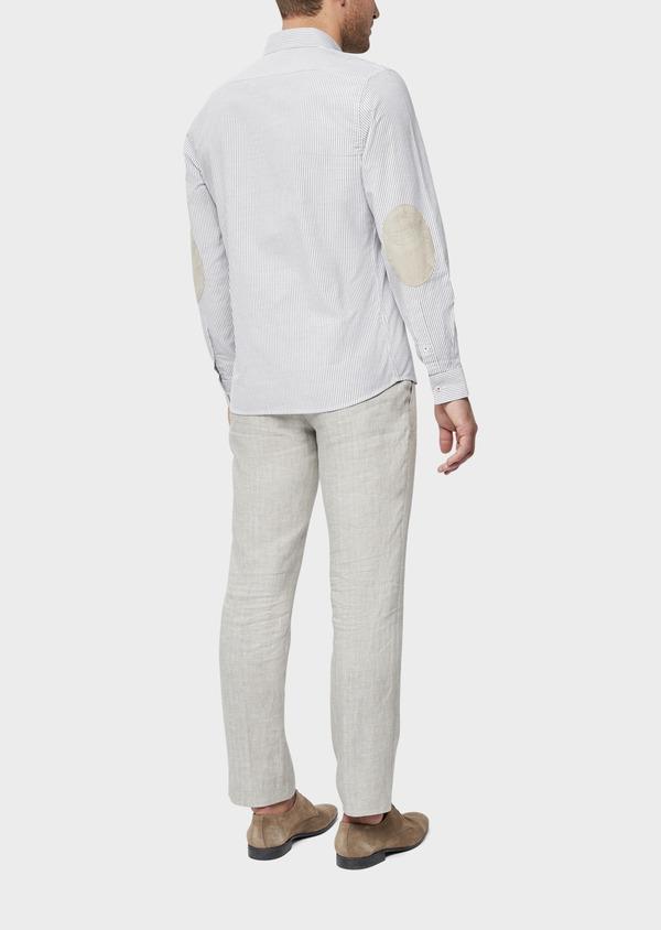 Pantalon coordonnable Slim en lin uni gris - Father and Sons 38707