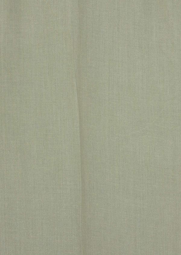 Pantalon coordonnable Slim en lin et coton uni vert kaki - Father and Sons 39210