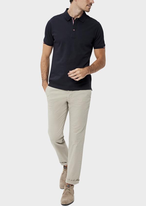 Chino slack skinny en coton à motif fantaisie beige - Father and Sons 34508