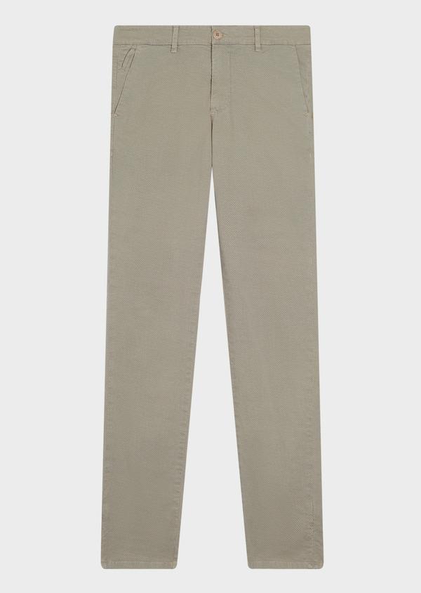 Chino slack skinny en coton à motif fantaisie beige - Father and Sons 34506