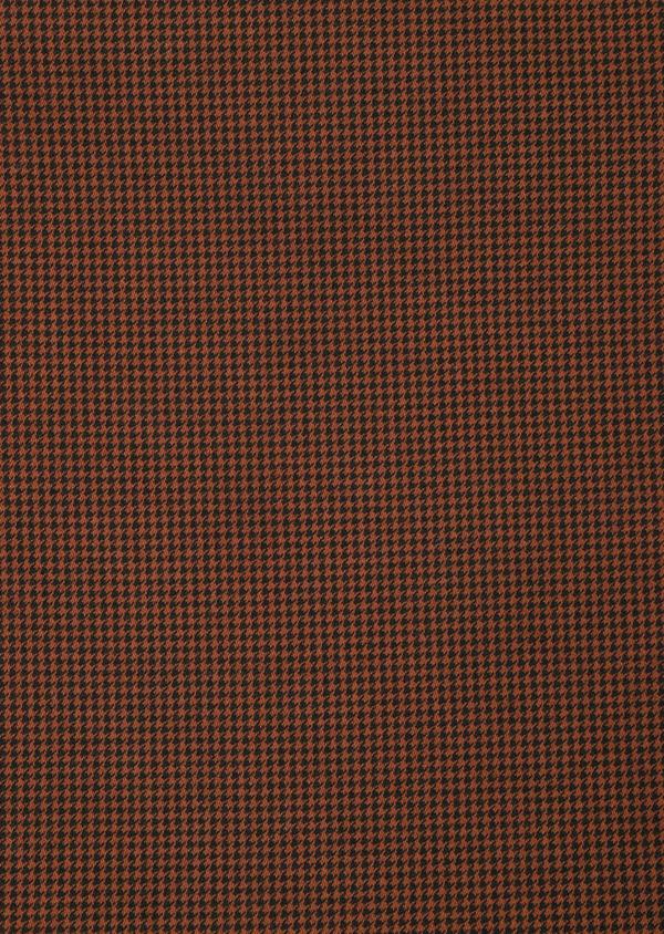 Pantalon casual skinny en coton stretch à motif fantaisie marron - Father and Sons 33907