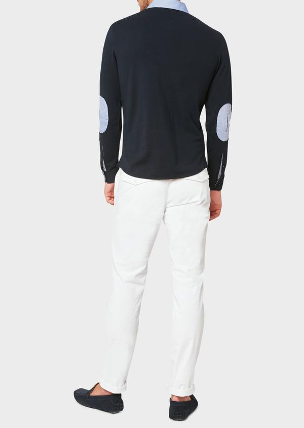 Chino slack skinny en coton stretch uni blanc - Father and Sons 33342