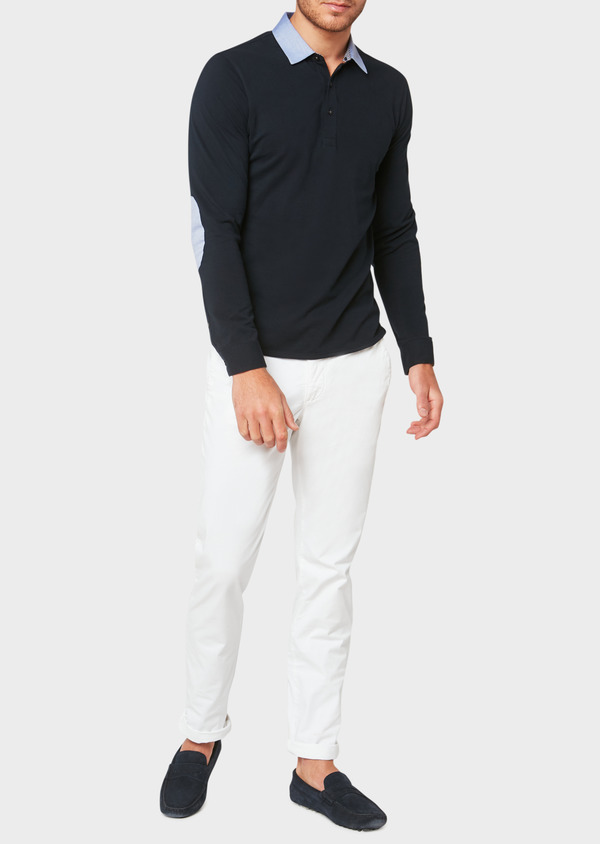 Chino slack skinny en coton stretch uni blanc - Father and Sons 33341