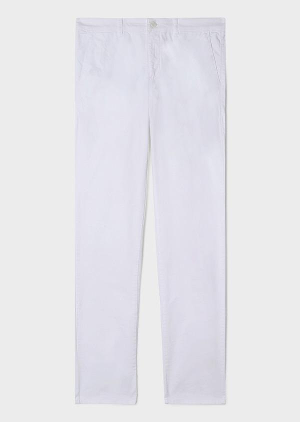 Chino slack skinny en coton stretch uni blanc - Father and Sons 33339