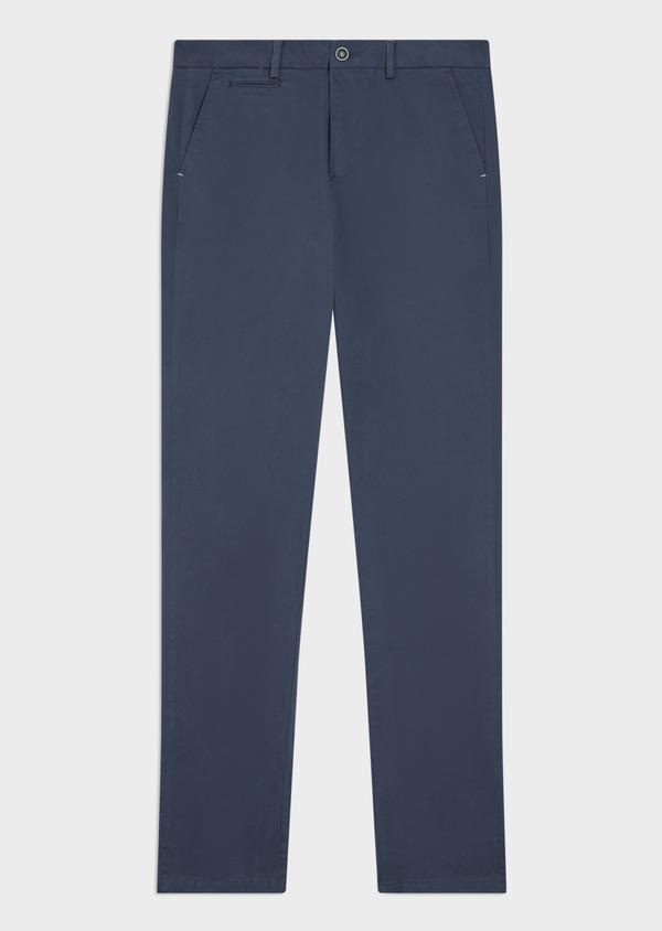 Chino slack skinny en coton stretch uni bleu indigo - Father and Sons 34460