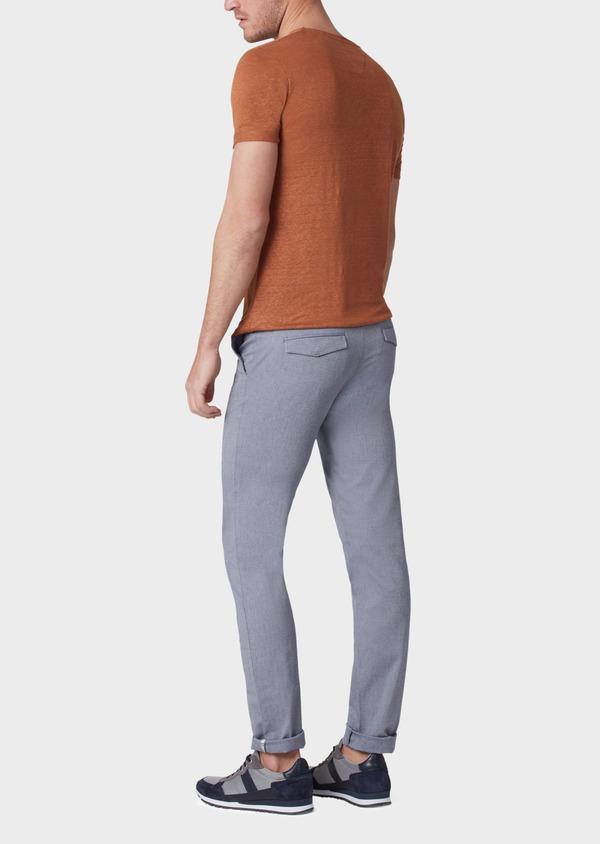 Chino slack skinny en coton stretch uni bleu - Father and Sons 34153