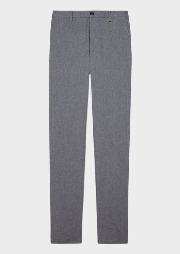 Chino slack skinny en coton stretch uni bleu - Father and Sons 34150
