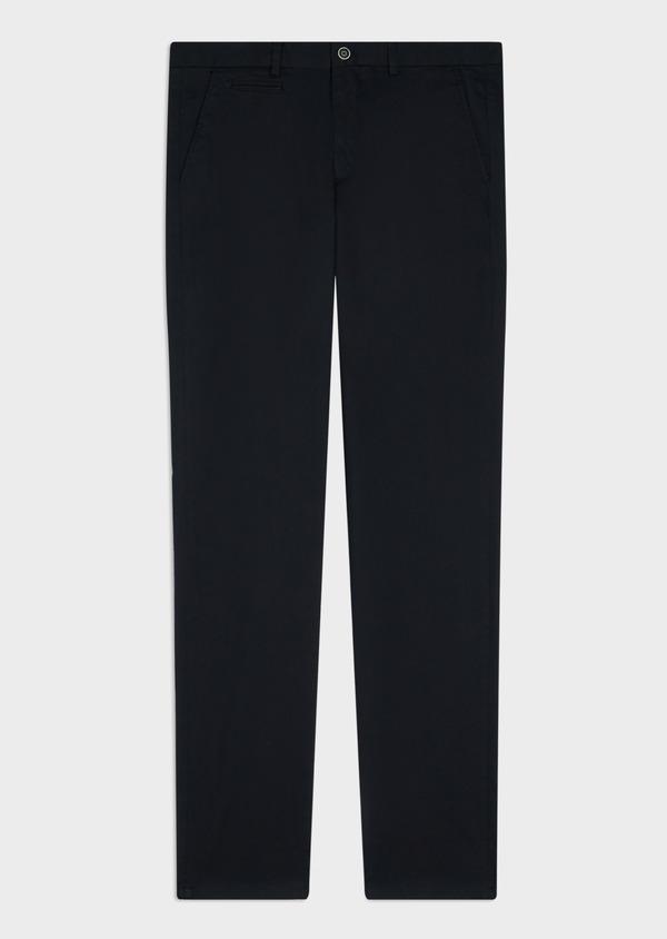 Chino slack skinny en coton stretch uni bleu marine - Father and Sons 34452