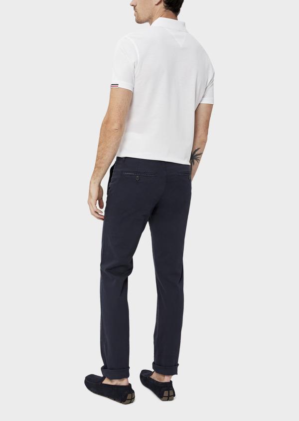 Chino slack skinny en coton uni bleu marine - Father and Sons 34513